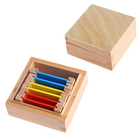 Wooden Educational Baby Early Learning Toy Montessori Color Tablets Box Sensorial Teaching Aids Color Charts Materials