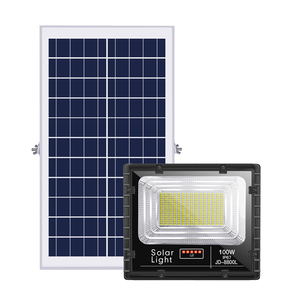 Dusk to Dawn Solar Energy Systems Lights Outdoor,25W 40W 60W 100W 200W 300W Reflector Flood Solar Home Lighting System