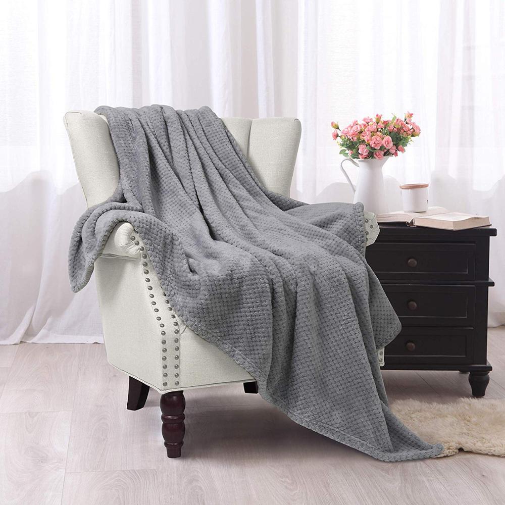 حار بيع الهراء بطانية صوف ناعمة المخملية أفخم بطانية رمي سميكة كبيرة