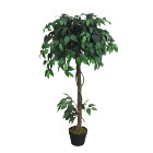 Green ficus artificial real look live artificial ficus plant indoor tree