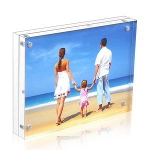 10+10mm Acrylic Magnetic Picture Frame Block Card Holder Plexiglass Frame Acrylic Frame 5x7
