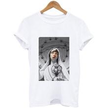 2020 мягкая Эстетическая Одежда для девочек с аниме летняя одежда для женщин Хиппи белый топ летний топ уличная одежда женская летняя одежда(China)