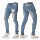 Dongguan factory custom pantalones jeans men ripped jeans