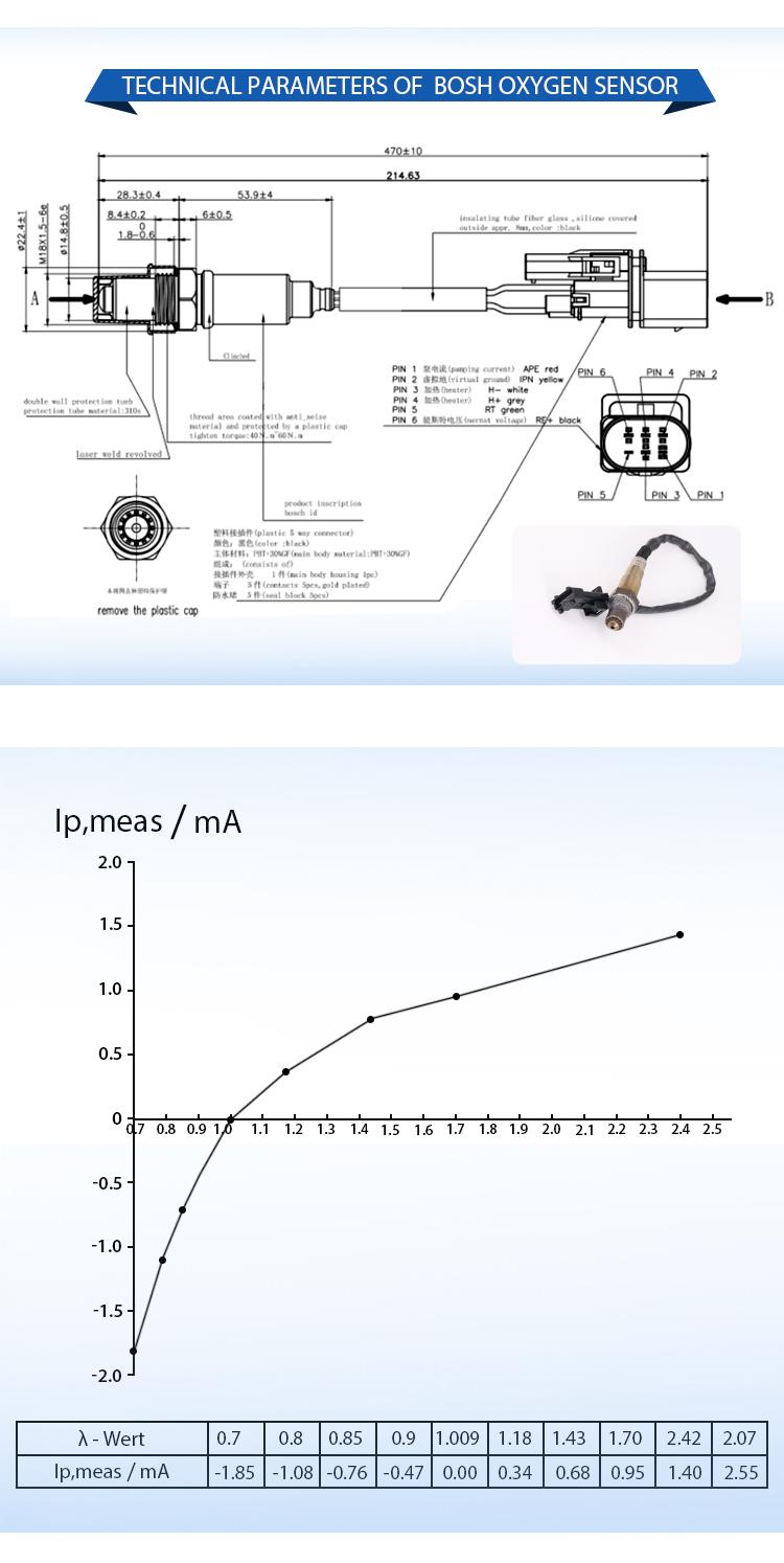 قطع غيار السيارة على 08-12 فولفو S60 S80 XC60 XC70 المصب الأوكسجين الاستشعار 30774563 6G9N-9F472-CA