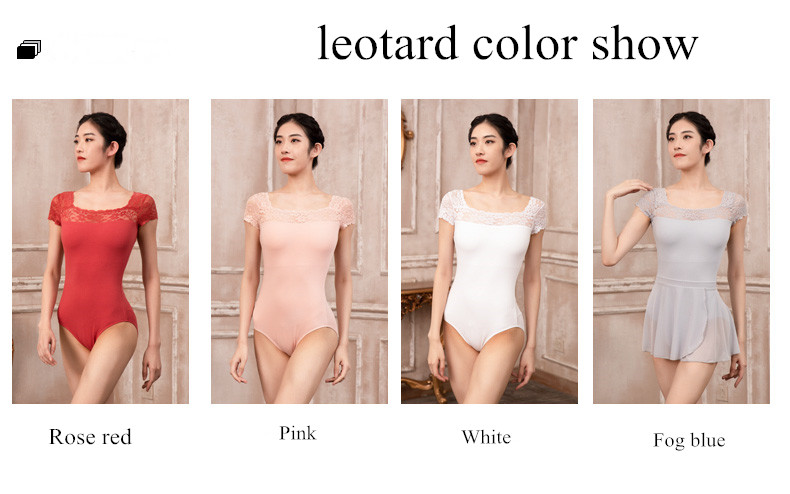 119141062     Baiwu 2020 Autumn New Arrival Lace Sleeve  Dancewear Adult Ballet Leotard