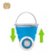 Outdoor Camping Foldable Silicone bucket Space saving with handle
