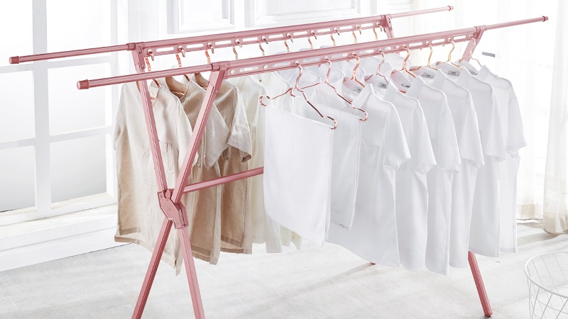 Stainless Metal Retail  Rack Hanging Clothes Display Drying Racks Stand Clothes for Clothing Store