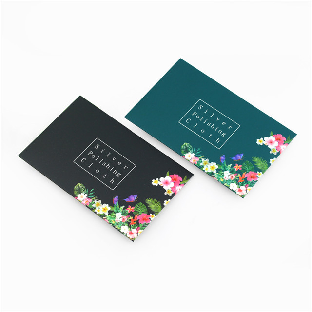 Hot Sale On INS High Quality Flower Envelope Rub Silver Cloth, Custom Logo Wholesale Jewelry Silver Polishing Cloth