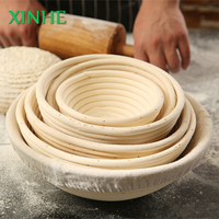 Round Bread Rattan Bowl Factory Wholesale Food Grade Handmade Proofing Basket In Baking & Pastry Tools