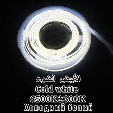 DC 12 В/24 В светодиодный COB FOB гибкий ленточный светильник высокой плотности смягчаемый 0,5 м 1 м 5 м разрезаемый холодный теплый белый Крытый отк...(Китай)