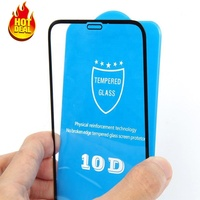 10D Curved Full Glue Tempered Glass Screen Protector For iPhone XR Full Cover Protective Glass For iPhone 6s 7 XR XS Max film