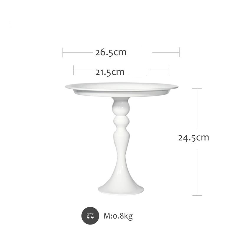Dali Wholesale Nordic Decorative Round Table Serving Metal Tray For Wedding,Birthday Party