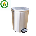 Household 2 layers polishing stainless steel foot pedal trash bin waste bin dustbin