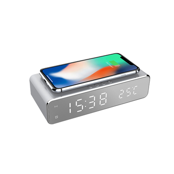 Hot Christmas Gift Alarm Clock With Qi Charger