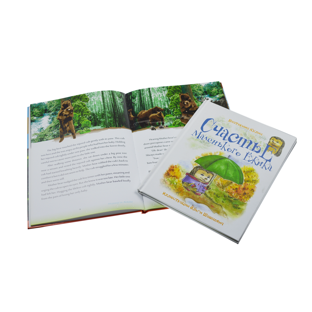 FSC certification professional child book printing with hot stamping