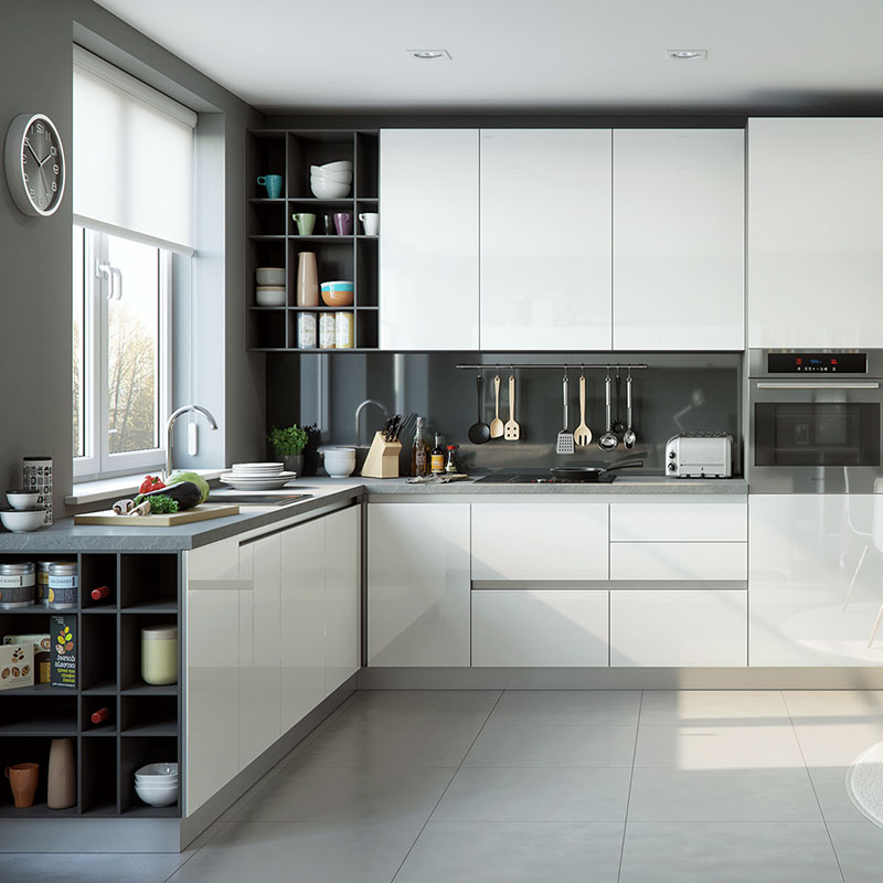 Foshan Hohe Qualität Moderne Standard Weiß Küche Schrank Design