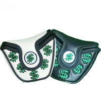 Supplier Custom Logo Golf Putter Headcovers PU Leather Covers