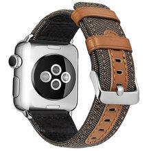 Ремешок для часов Apple Watch, 38 мм, 42 мм, тканевый кожаный материал для iWatch, 40 мм, 44 мм, серия 5, 4, 3, ремешок для часов, браслет(Китай)