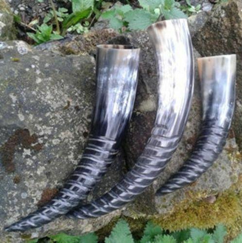 Plain Screw Finish Viking Drinking Horn Mug Cup Beer Wine Mead Pagan Celtic