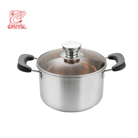 New product casserole pot kitchenware stainless steel soup pot with bakelite handle