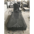 China Impala black color granite tombstone design pictures