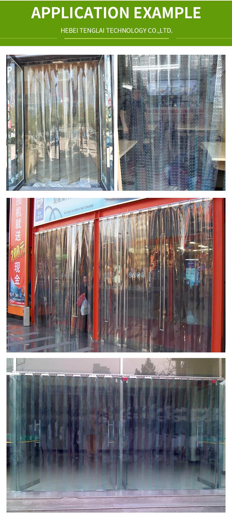Lowcost Transparente crianças PVC strip cortinas da porta