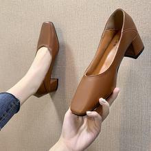 Новинка 2020 года; Женские туфли на высоком каблуке; Удобные пикантные свадебные туфли на квадратном каблуке; Женские туфли из искусственной ...(China)