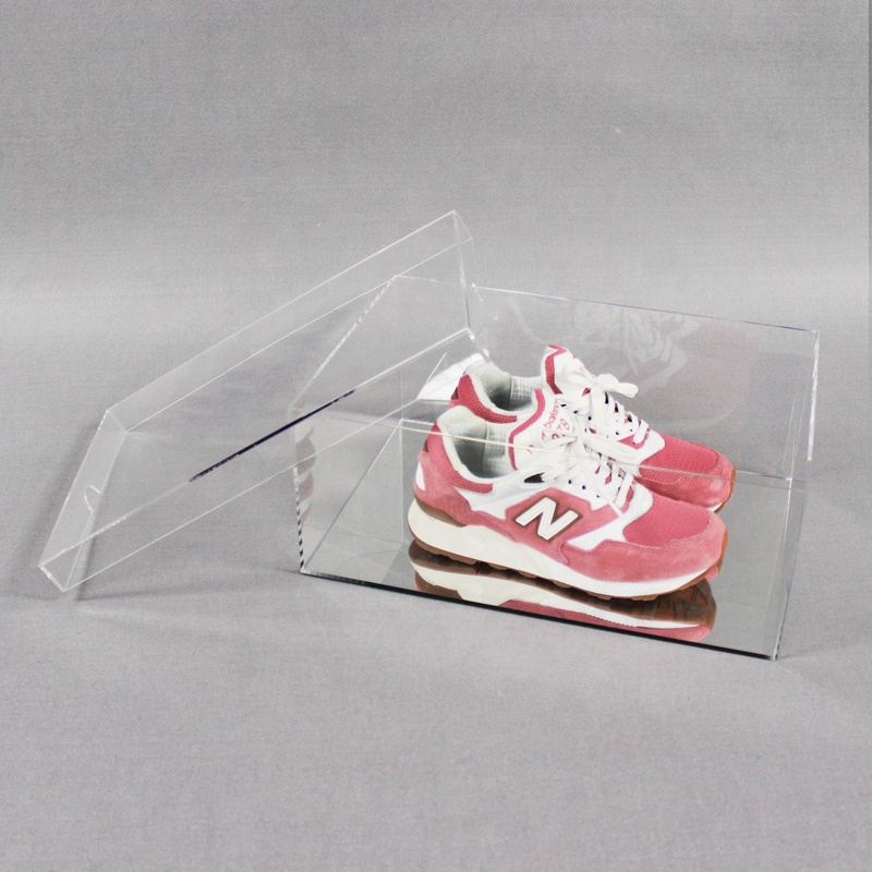 Apex clear mirror acrylic shoe display box for sneaker