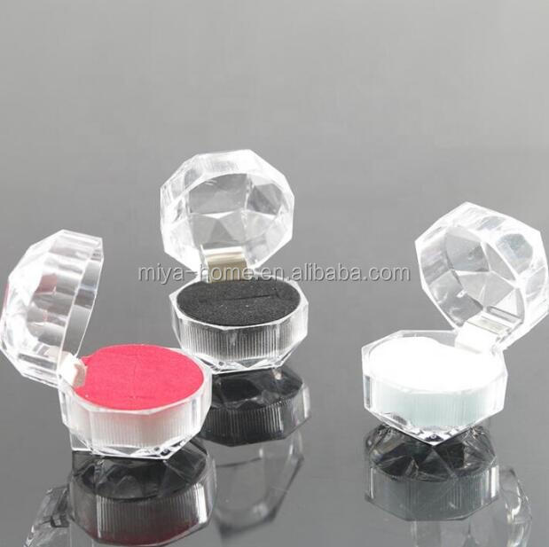 Transparent Crystal Ring Box / Acrylic Jewelry Case / Stud Earrings Jewelry Storage Gift Box