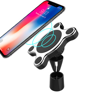 China Manufacture Air Vent 10W Charging Holder Mount N50 Magnet Magnetic Qi Wireless Charger Car