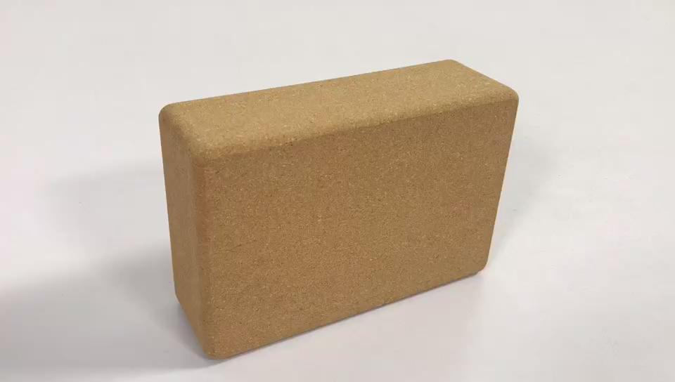 """High高密度3 '× 6 """"× 9"""" サイズ卸売カスタムロゴが自然ヨガコルクブロック"""