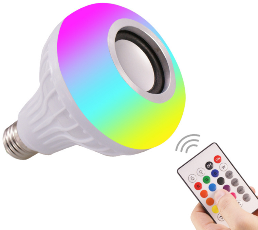 Wireless Bluetooth Speaker RGB Bulb E27 LED Lamp Smart LED Music Bulb