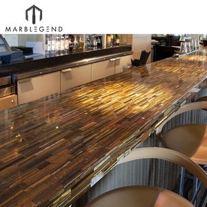 Luxury gemstone countertop gold tiger eye slab and tile