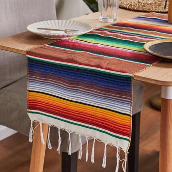 Christmas Decoration Rainbow Table Runner,Mexican Table Runner/