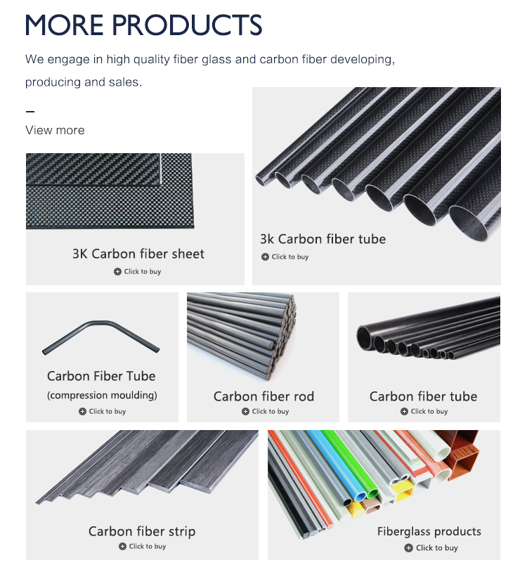 Wholesale ODxID 6x4mm High Strength Pultrusion Solidification Carbon Fiber Tube