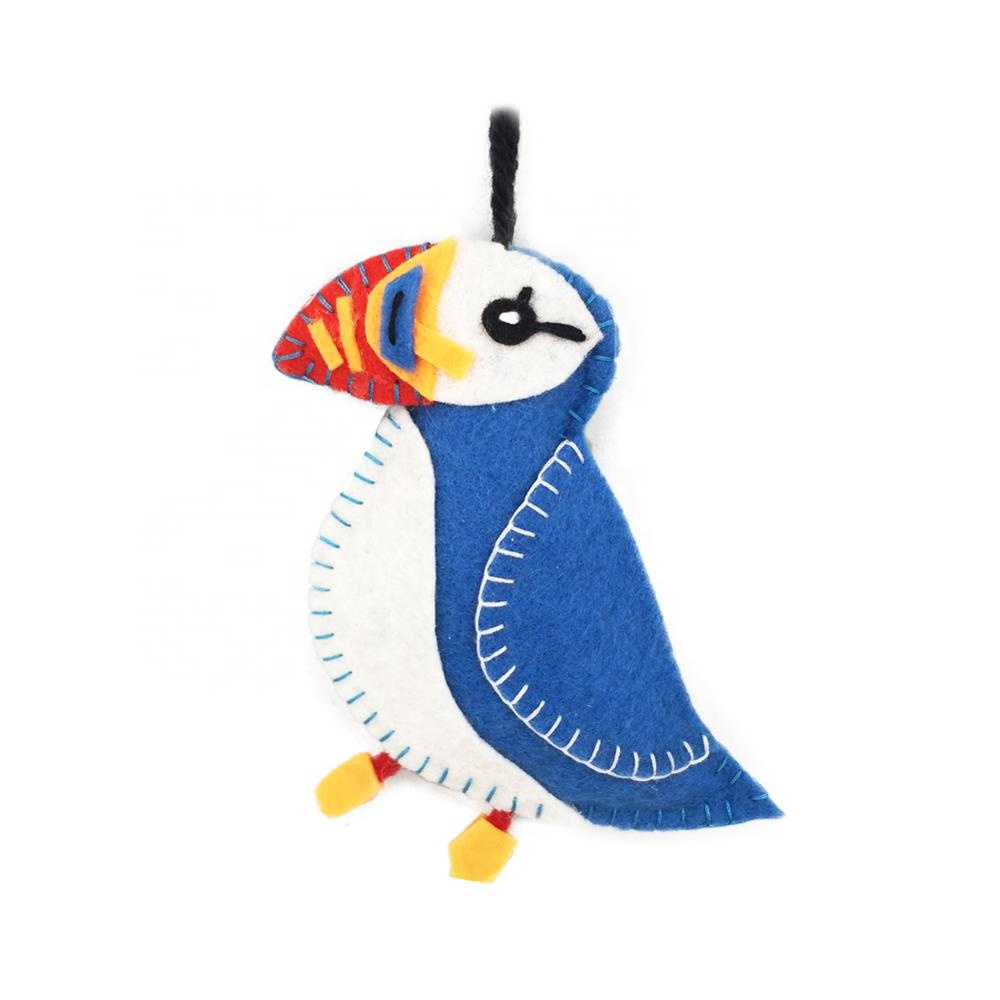 Christmas decoration felt bird toys handmade wool ornaments