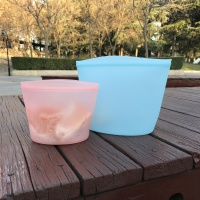 Silicone Food Storage Bag Reusable Silicon frozen fresh vegetable eco-storage bag Sealed vacuum bag