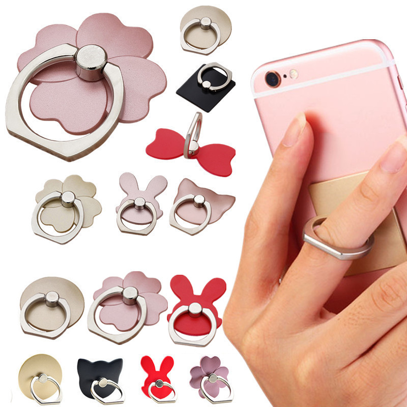 NEW Finger Ring Mobile Phone Smartphone Stand Holder For i-phone X 8 7 6 Plus 5S Smart Phone MP3 Car Mount Stand For Samsung