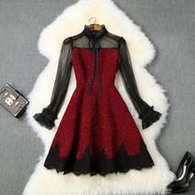 Весна 2020 Новое превосходное качество Мини сексуальное платье xl женское платье принцессы с длинным рукавом Вечерние платья знаменитостей(Китай)