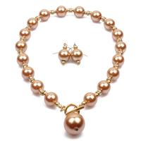 Wholesale pearls jewelry bridal jewelry sets customize pearls jewelry set pearls Necklace and earrings set T6090