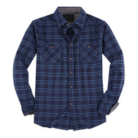 2020 New Arrive Mens Casual Shirt Regular Fit High Quality Long Sleeve Cotton Plaid Flannel Shirts for Men