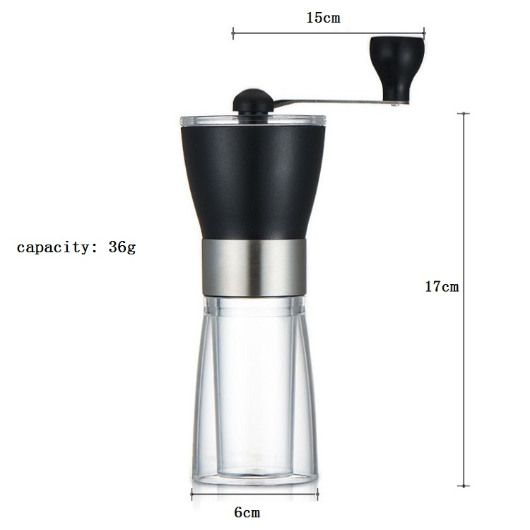High quality customized 36g hand coffee bean grinder