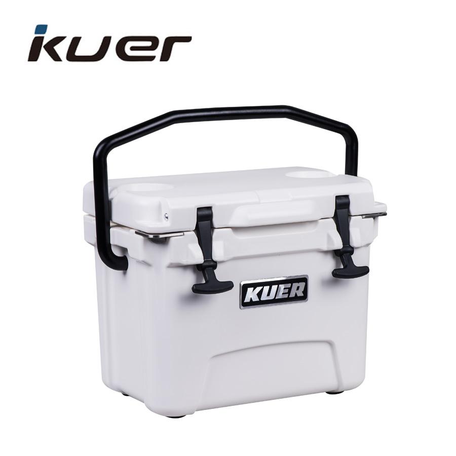 KUER-B 10QT PEBDL com dispenser Rotomolded Refrigerador caixa de gelo ao ar livre barato