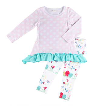 Bulk wholesale clothing lovely fall outfit kids baby easter clothes