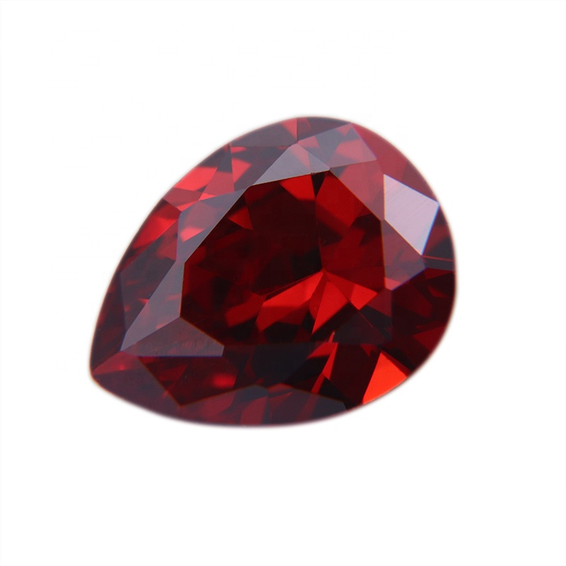 AAA <strong>Pear</strong> Garnet Shape Cut Diamond Cubic <strong>Zirconia</strong> Jewelry Stones CZ