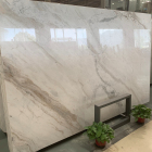 china calacatta amber white marble slab