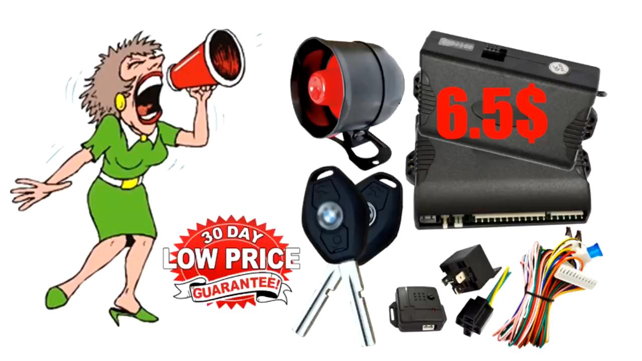 Cardot 2020 Free Sample Car Alarm System Anti-Hijacking One Way Universal Remote Control  Car Alarm