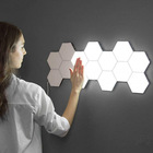 RGB Touch Sensitive Night Lamp Remote Control DIY Wall Touch LED Hexagonal Lamps Indoor Fancy Led Wall Light