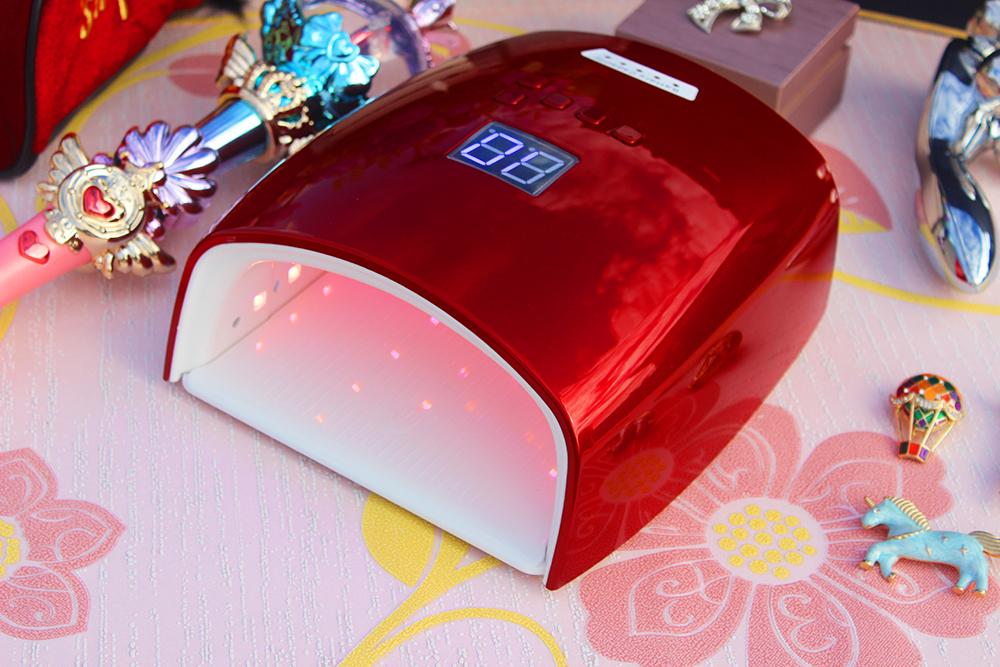 2021 Premium new hybrid 48W OEM wireless cordless smart cure digital pink light uv led nail gel lamp manicure nail dryer