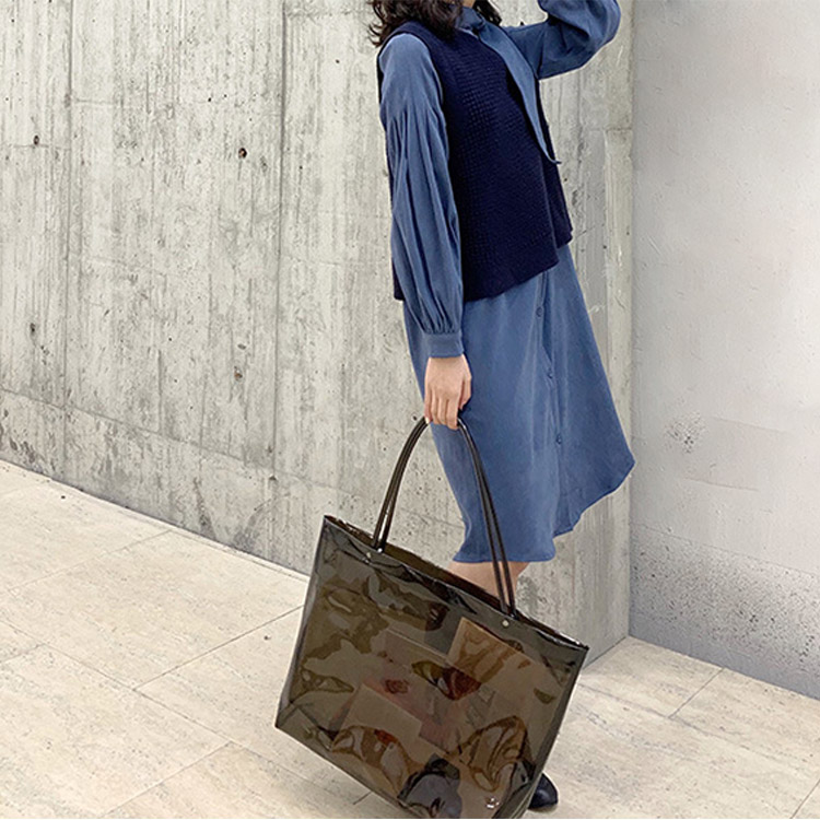 PVC beach tote bag wholesale clear handbags for women